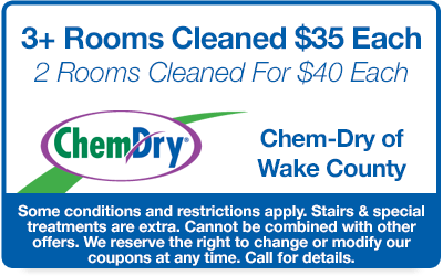 3 rooms cleaned for $35 each and 2 rooms cleaned for $40 each coupon